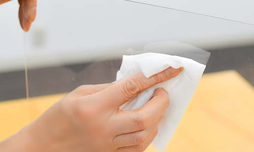 飛沫感染・接触感染を防ぐためのオリジナル印刷ができる激安抗菌加工アクリルパーテーション